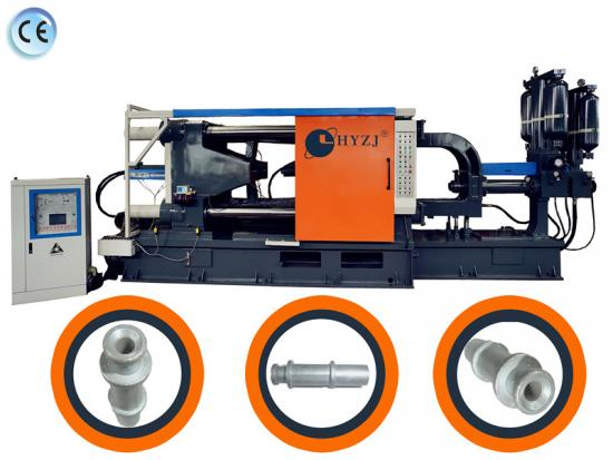 Die casting machine for production of motorcycle oil pipe
